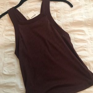 Free People maroon cropped tank